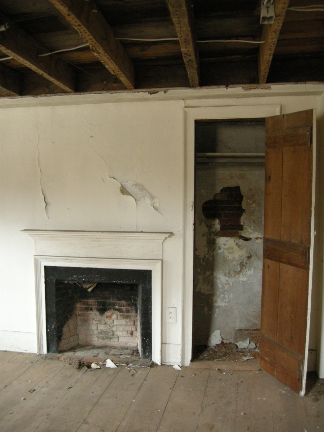 second floor fireplace